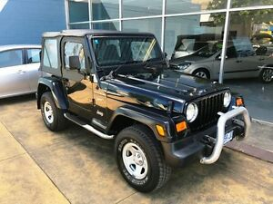 2002 Jeep Wrangler TJ Sport (4x4) Black 3 Speed Automatic 4x4 Softtop Hobart CBD Hobart City Preview
