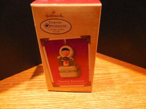 2002 Hallmark FROSTY FRIENDS Club Edition Keepsake Ornament porcelain box EUC