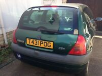 Renault Clio 12 months MOT 1150cc manual 80.800 miles good condition £550 ono radio/cd. £500 ono