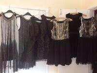 bundle of sparkly dresses
