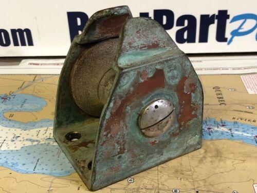 """Vintage Bronze Anchor Roller 3"""""""