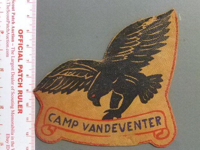 Boy Scout Camp Vandeventer leather IL 9929X