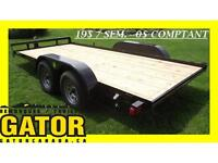 REMORQUE GATOR PLATE-FORME A VOITURE 16'
