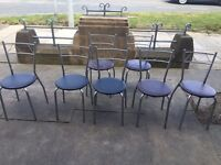 ***2 TABLES & 7 CHAIRS IDEAL FOR KITCHEN/CAFE ONLY £50 O.N.O ***