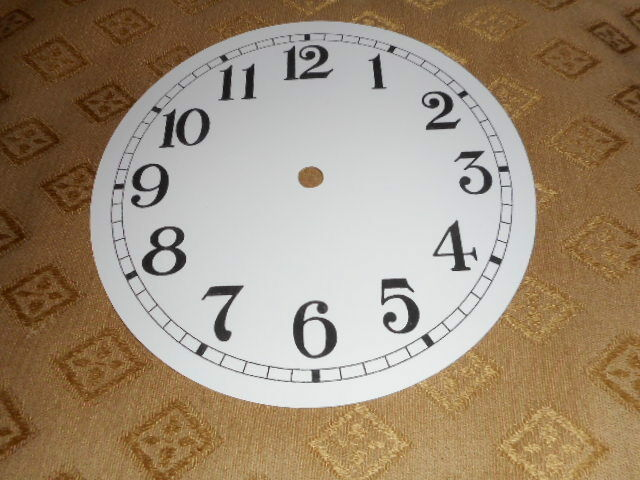 """Round Paper Clock Dial- 9"""" M/T - Arabic- HIgh Gloss White -Face/ Clock Parts"""