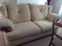 3 seater sofa and 1 arm chair