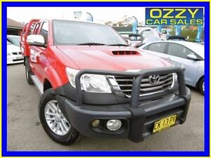 2012 Toyota Hilux KUN26R MY12 SR5 (4x4) Red 5 Speed Manual Dual Cab Pick-up Penrith Penrith Area Preview
