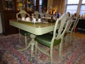Dining Room Table, 6 Chairs, Buffet and Server