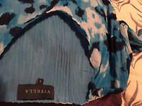 Ladies Viyella blue print dress size 10