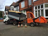 wood chipper and operator for hire . You cut we chip cheaper than a skip