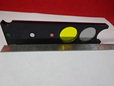 Reichert Leica Polylite Filter Slide Microscope Part Optics As Is 91-06