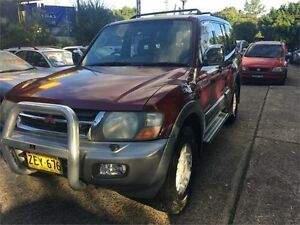 2002 Mitsubishi Pajero NM GLS Red Sports Automatic Wagon West Ryde Ryde Area Preview
