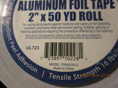 Contractor Grade White Aluminum Foil Tape Roll of One 2