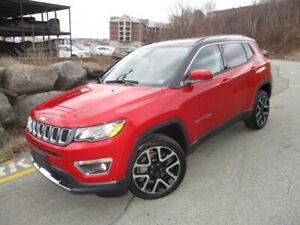 2017 Jeep Compass Limited (4X4, NAV, HEATED LEATHER & WHEEL, R/C