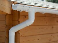 Plastic guttering kit for hipped roof   Available in brown, grey, black, anthracite and white