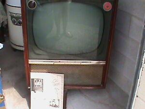 "Vintage"" Admiral"" Black& White TV- 1950's Plus 1950's TV Poster"