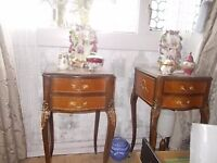 BEAUTIFUL VINTAGE FRENCH LOUIS BEDSIDE CHEST TABLES OR LAMP TABLES