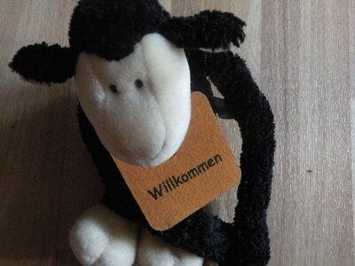Nici Schaf schwarz 25cm Plüsch Kuscheltier  ()