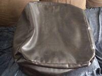 Bean Bag (Dark Brown Faux Leather Square)