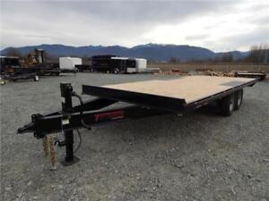 NEW 2018 14,000# 20' HEAVY DUTY EQUIPMENT DECKOVER TRAILER