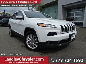 2016 Jeep Cherokee Limited ACCIDENT FREE w/ 4X4, SAFETY TEC P...