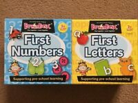 Brainbox First Numbers and First Letters flash card games
