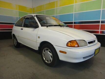 1996 Ford Festiva WB Trio White 5 Speed Manual Hatchback