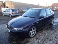 SEAT LEON CUPRA 1.8T 180~04/2004~5 DOOR HATCHBACK~6 SPEED MANUAL~METALLIC BLACK