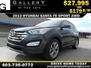2013 Hyundai SantaFe Sport AWD $179 BIWEEKLY APPLY NOW DRIVE NOW