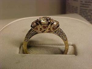 #1006-14K Y/Gold DIAMOND ENGAGEMENT-Size 6 1/4-APPRAISED $4,450.00-SELL $995.00-ACCEPT EBANK TRANSFER-SHIP CANADA*ONLY*