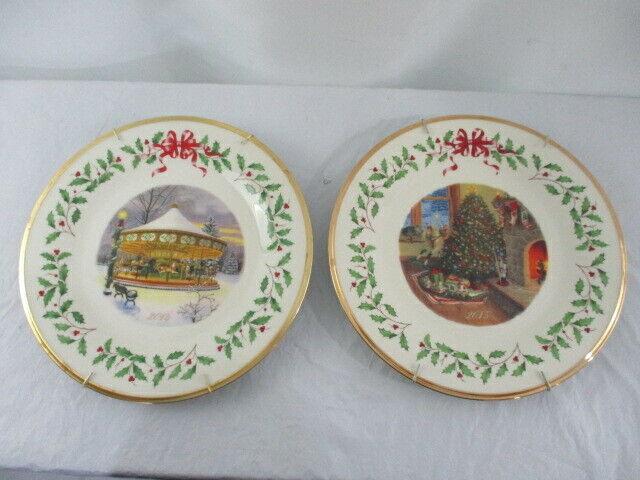 2014 and 2015 Lenox Christmas Plates
