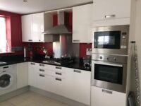 Gloss White Kitchen for sale with granite worktops & appliances