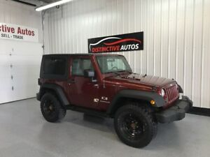 2008 Jeep Wrangler 4X4 LEATHER/HARD TOP/AUTOMATIC/AFTRMKT WHEELS