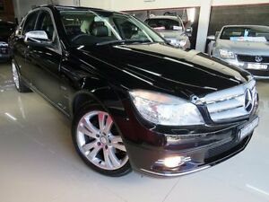 2008 Mercedes-Benz C200 W204 Kompressor Avantgarde Pitch Black 5 Speed Auto Tipshift Sedan Seaford Frankston Area Preview