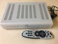 sky plus box with remote