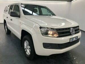 2015 Volkswagen Amarok 2H MY16 TDI420 Core Edition (4x4) Pure White 8 Speed Automatic Dual C/Chas
