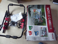 3 bike carrier rack boxed complete all straps etc.