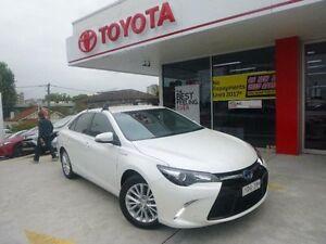 2015 Toyota Camry AVV50R MY15 Atara SL Hybrid Crystal Pearl Continuous Variable Sedan Allawah Kogarah Area Preview