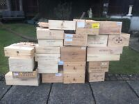 Various Wooden Wine Boxes
