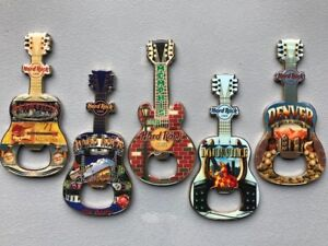 39 HARD ROCK GUITAR BOTTLE OPENERS / MAGNETS OTHER COLLECTIBLES