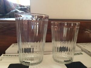 Ikea Vardagen glasses in two sizes for sale. Only used once