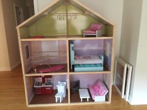 American Girl Doll House (Fully Furnished)