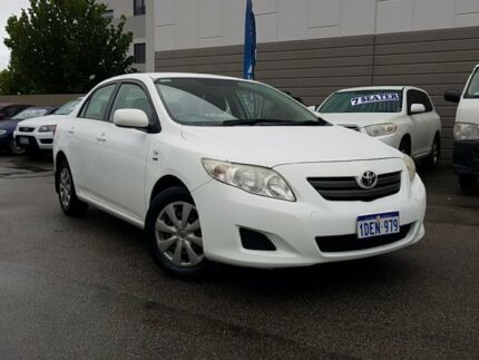 2009 Toyota Corolla ZRE152R MY09 Ascent White 4 Speed Automatic Sedan East Victoria Park Victoria Park Area Preview