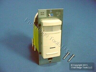 Leviton Almond Manual-on Motion Sensor Occupancy Switch 800w 900 Sq Ft Ipp10-1la