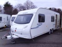 2008 Sprite Quattro EB 6 Berth Twin Axle, Rear Washroom and Fixed Bunk beds.