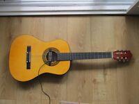 Three quarter size starter spanish guitar with pickup