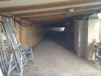Large storage space or workshop available immediately