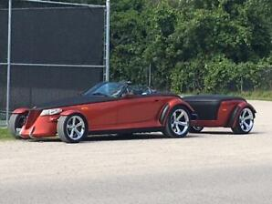 Selling my 2001 Plymouth prowler with matching trailer.