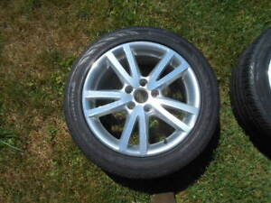 VW Audi 17 inch alloy rims, Continental tires