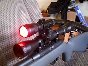 Bear Predator Night Hunting Red CREE LED Gun Mounted Light ...